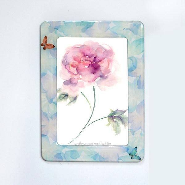 5寸磁性水晶相框 - 花與蝴蝶