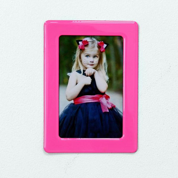 6寸磁性水晶相框 - 少女粉